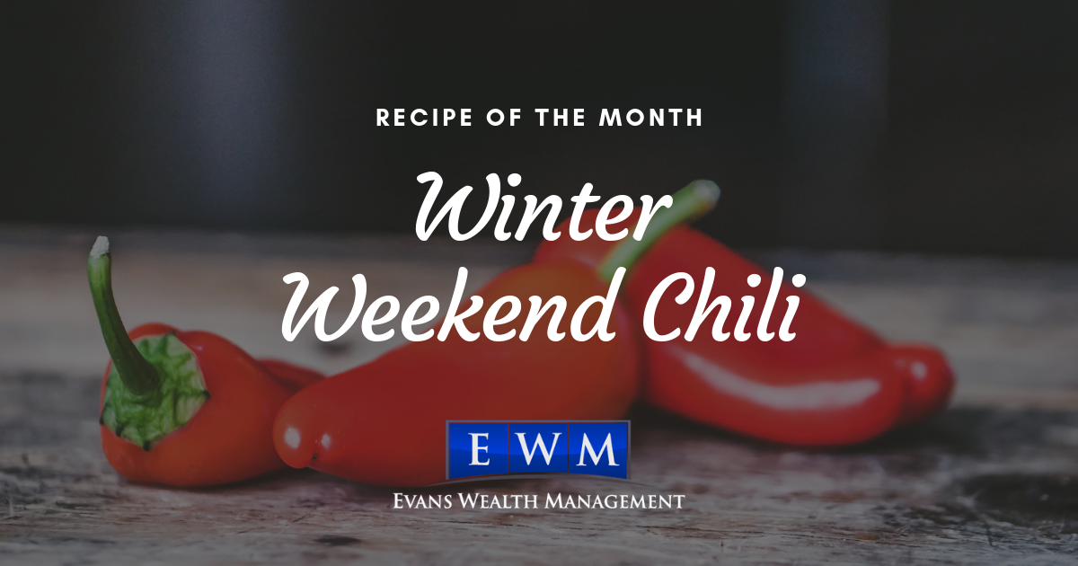 Recipe of the Month: Winter Weekend Chili